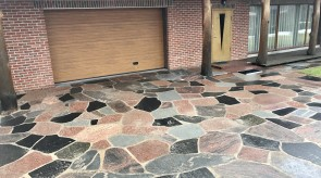 Natural stone paving slabs