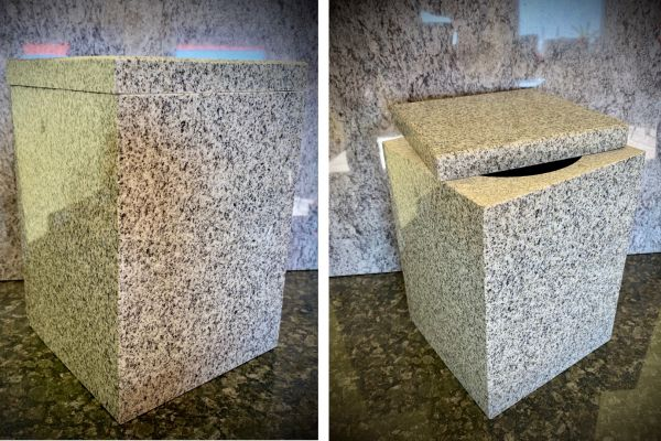 Natural stone funeral urn