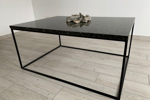 "Coffee / Office table with ""Baltic green"" Granite Table top"