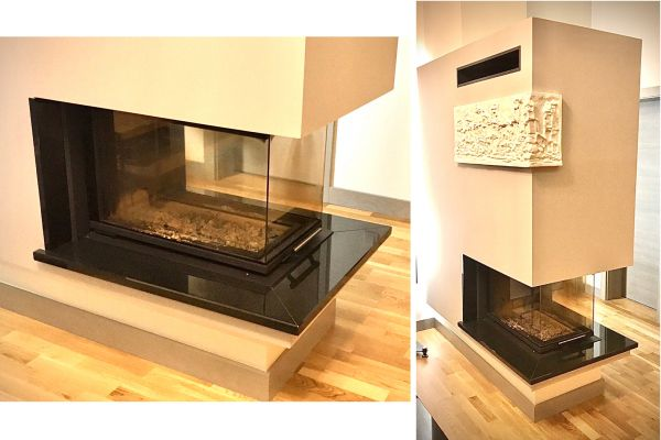 Fireplace decoration from natural granite